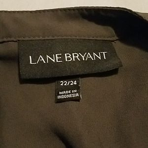 Lane Bryant Olive green polyester top 22/24
